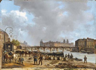 Painting - The Pont Des Arts. Paris by Giuseppe Canella