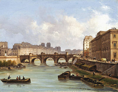 Painting - The Pont Neuf. Paris by Giuseppe Canella