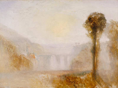 English Painting - The Ponte Delle Torri, Spoleto by JMW Turner