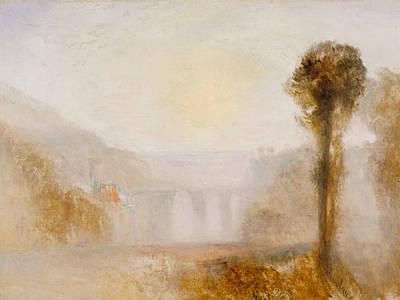 Italian Landscapes Painting - The Ponte Delle Torri Spoleto by Joseph Mallord William Turner