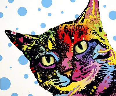 Grafitti Painting - The Pop Cat by Dean Russo