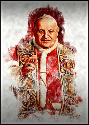Catholicism Digital Art - The Pope by Stefano Senise