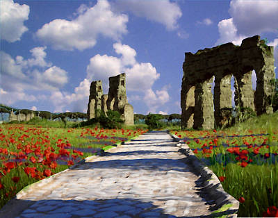 The Poppy Ruins Print by David Zimmerman