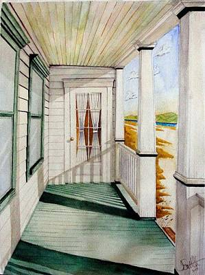 The Porch Print by Jimmy Smith