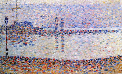 View Painting - The Port At Gravelines, Study by Georges Seurat