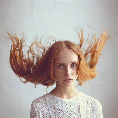 Red Photograph - the portrait of Olga by Anka Zhuravleva