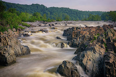 The Potomac River At Great Falls Print by Rick Berk