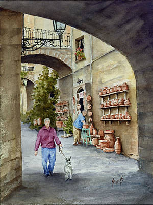 The Pottery Shop Print by Sam Sidders