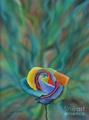 Devotional Painting - The Prayer Rose by Louise Williams