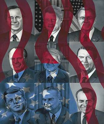 George Bush Painting - The Presidents I've Known by Brett Sauce