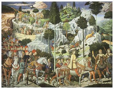 Caspar Painting - The Procession Of King Caspar by Benozzo Gozzoli