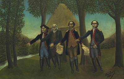 Proclamation Painting - The Proclamation Of American Independence by Andre Bauchant