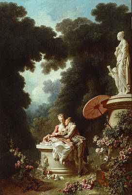 Jean-honore Fragonard Painting - The Progress Of Love. Love Letters by Jean-Honore Fragonard