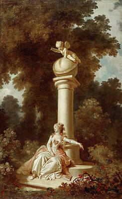 Jean-honore Fragonard Painting - The Progress Of Love. Reverie by Jean-Honore Fragonard