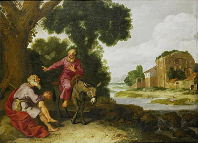 Lambert Jacobsz Painting - The Prophet Of Bethel Meets The Man Of God From Judah by Lambert Jacobsz