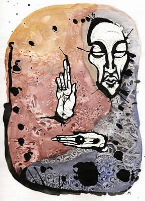 Prophet Mixed Media - The Prophet Too by Mark M  Mellon