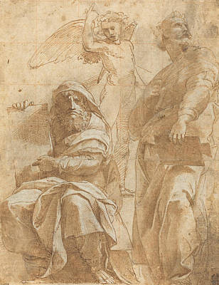 Jonah Drawing - The Prophets Hosea And Jonah by Raphael