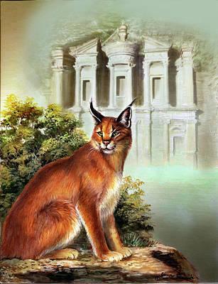The Protector Of The City Of Petra Original by Regina Femrite