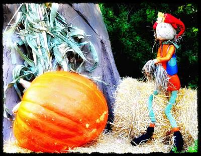 the Pumpkin and the Scarecrow Print by Bill Cannon
