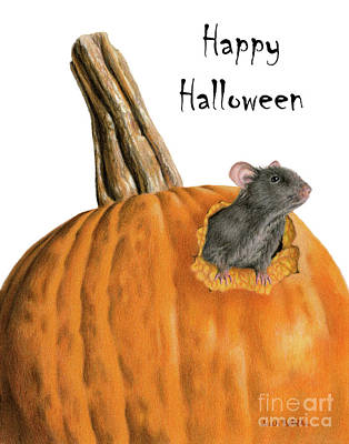 Pumpkin Drawing - The Pumpkin Carver- Happy Halloween by Sarah Batalka
