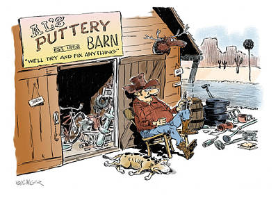Rights Of Man Digital Art - The Puttery Barn. by Bruce Bolinger