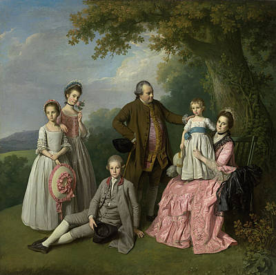 Painting - The Pybus Family by Nathaniel Dance-Holland
