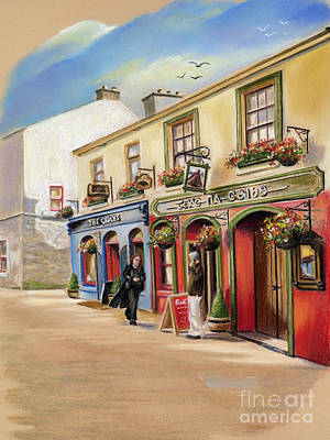 The Quays Pub Print by Vanda Luddy
