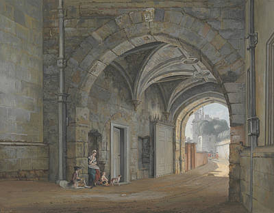 The Queen Elizabeth Gate Print by Paul Sandby