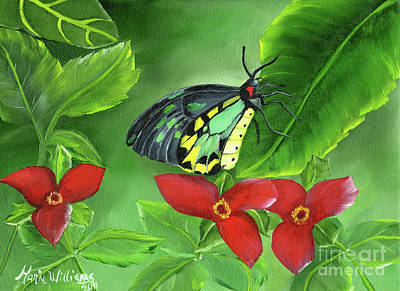 Butterfly Painting - The Queen's Garden by Maria Williams
