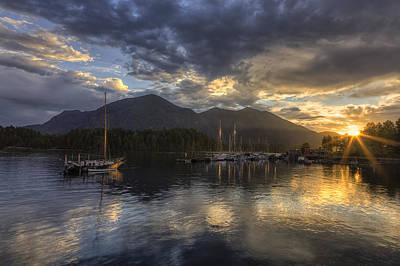 Trawler Photograph - The Quiet Sunrise - Tofino Bc by Mark Kiver