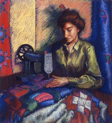 The Quilter Print by Ellen Dreibelbis