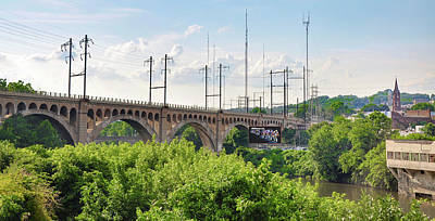 The Railroad Bridge In Manayunk Philadephia Print by Bill Cannon