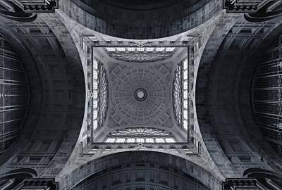 The Railroad Cathedral Print by Jeroen Van De Wiel