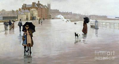 Spray Painting - The Rain It Raineth Every Day by Norman Garstin