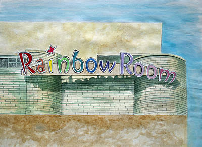 Park Scene Drawing - The Rainbow Room by Patricia Arroyo