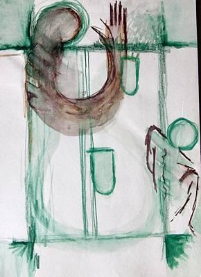 The Raised Hand Original by Subhorup Dasgupta