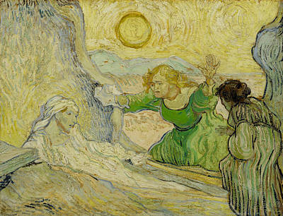 Raising Painting - The Raising Of Lazarus, After Rembrandt by Vincent van Gogh
