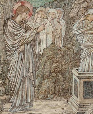 The Raising Of Lazarus Print by Edward Burne-Jones