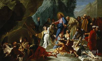 Faith Painting - The Raising Of Lazarus by Celestial Images