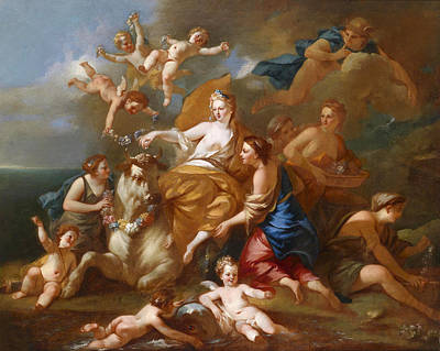 Painting - The Rape Of Europa by Pierre-Jacques Cazes