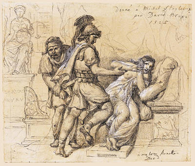 Drawing - The Rape Of Lucretia by Jacques-Louis David