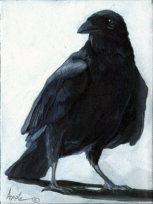 Painting - The Raven by Linda Apple