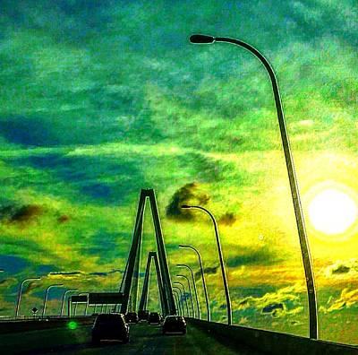 Photograph - The Ravenel Bridge Sunset by C F  Legette