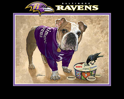 Raven Mixed Media - The Ravens by Harold Shull