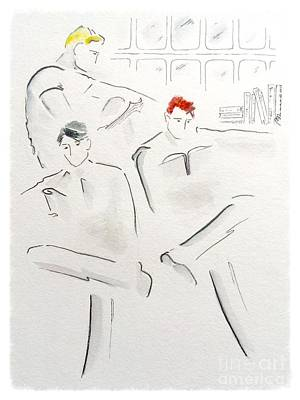 Buddy Drawing - The Reading Room  by Barbara Chase