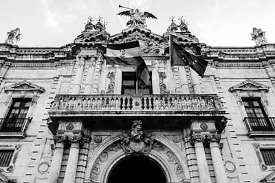 Black And White Photograph - The Real Tobacco Factory - Seville 3 by Andrea Mazzocchetti