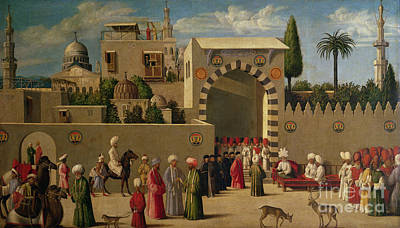 North Italian Town Painting - The Reception Of Domenico Trevisani In Cairo by Italian School