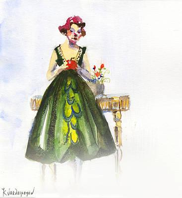 The Red Apple Print by Kristina Vardazaryan