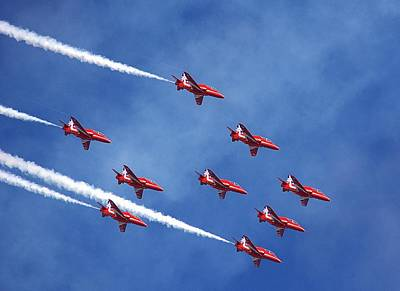 'the Red Arrows' Print by Mark Hinds