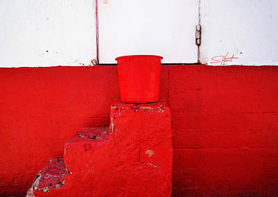 Lighthouse Photograph - The Red Bucket by Charles Stuart